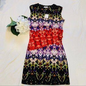NEW Calvin Klein Multi Color Sheath Dress Dress